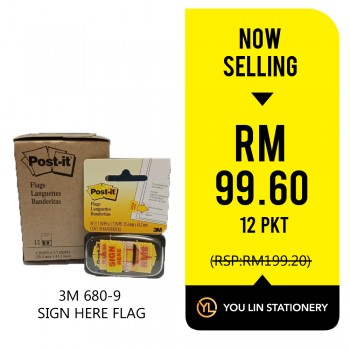 3M Post-it Flags 680-9 12 PKT (Promo)