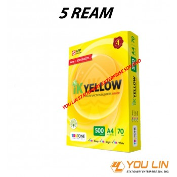 IK Yellow A4 Paper 70GSM-500 Sheets (Carton)