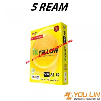 IK Yellow A4 Paper 80GSM-500 Sheets (Carton)