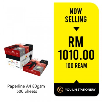 Paperline A4 Paper 80gsm-500 Sheets (100 Ream)