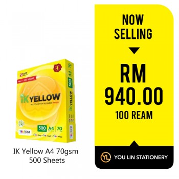 IK Yellow A4 Paper 70gsm-500 Sheets (100 Ream)