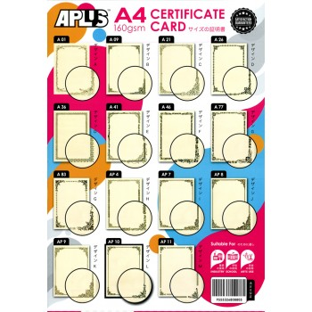 APLUS Certificate Card With Seal-APS10