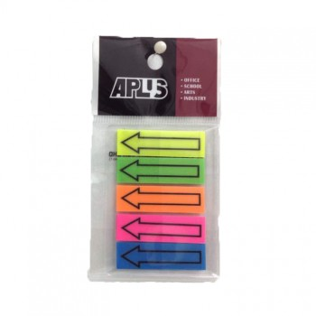 APLUS 44125 Asst 5 Colour Stick Note With Arrow