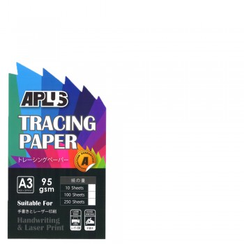 APLUS A3 95 GSM Tracing Paper 10's
