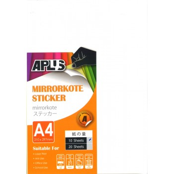 APLUS A4 Mirrorkote Sticker 10's