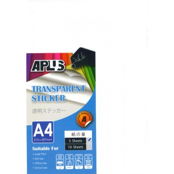 APLUS A4 Transparent Sticker 5's