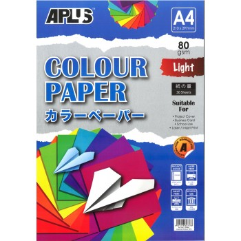 APLUS CP4601 A4 30's Assorted Light Colour Paper