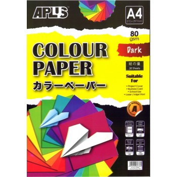 APLUS CP4602 A4 30's Assorted Dark Colour Paper