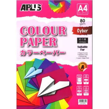 APLUS CP4603 A4 30's Assorted Cyber Colour Paper