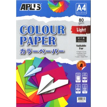 APLUS CP4701 A4 50's Assorted Light Colour Paper