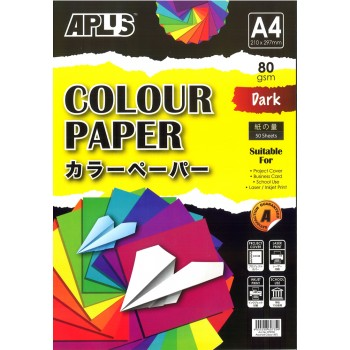 APLUS CP4702 A4 50's Assorted Dark Colour Paper