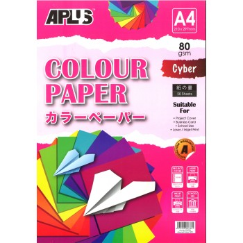 APLUS CP4703 A4 50's Assorted Cyber Colour Paper