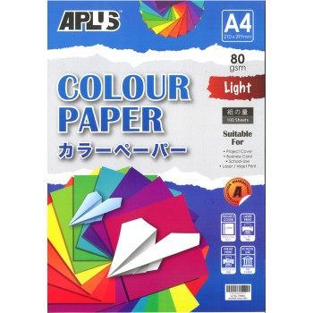 APLUS CP4801 A4 100's Assorted Light Colour Paper