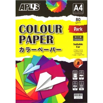 APLUS CP4802 A4 100's Assorted Dark Colour Paper