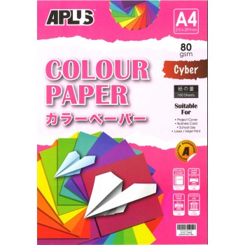APLUS CP4803 A4 100's Assorted Cyber Colour Paper