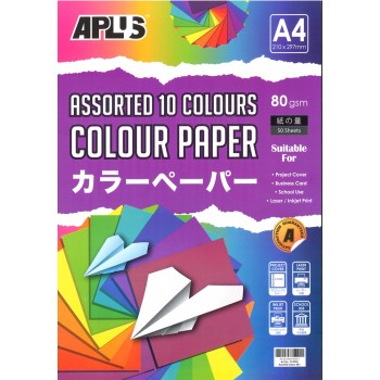 APLUS CP4905 A4 50's Assorted Dark & Cyber Colour Paper