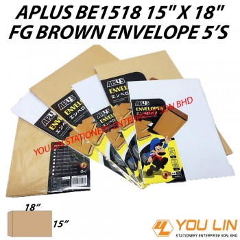APLUS BE1518 FG Brown Envelope 5'S
