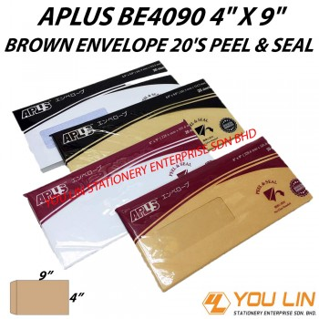 APLUS BE4090 Brown Envelope 20'S (P&S)