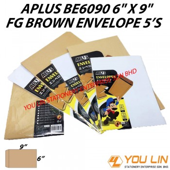 APLUS BE6090 FG Brown Envelope 5'S