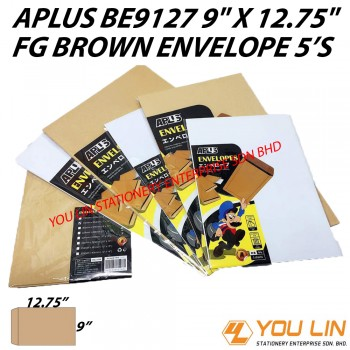APLUS BE9127 FG Brown Envelope 5'S