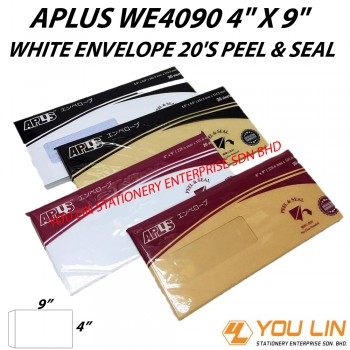 APLUS WE4090 White Envelope 20'S (P&S)