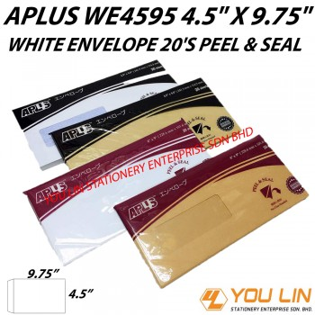 APLUS WE4595 White Envelope 20'S (P&S)