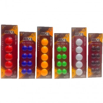APLUS MB-20 20MM Solid Colour Mag Button 8PCS Green