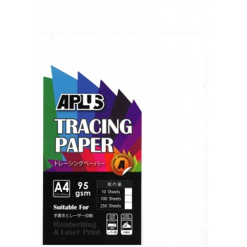 APLUS A4 95GSM Tracing Paper 10'S