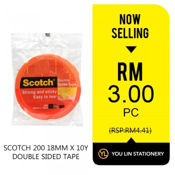Scotch 200 18mm x 10 yard Double Sided Tape-Promo