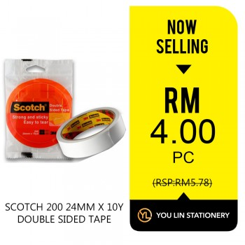 Scotch 200 24mm x 10 yard Double Sided Tape-Promo