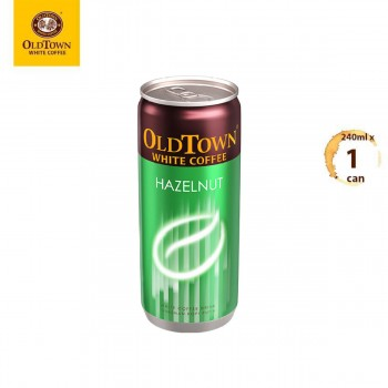 OLDTOWN White Coffee Hazelnut RTD Can Drink (240ml x 1 can)