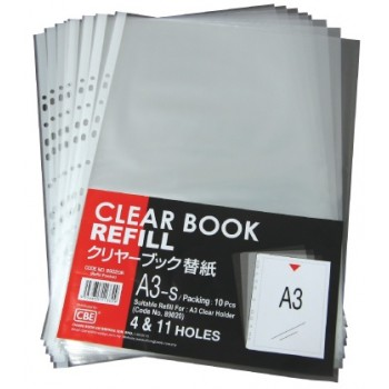 CBE 89020R A3 10'S Refill Pocket (11 Holes)