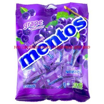 Mentos Grape Chewy Dragees