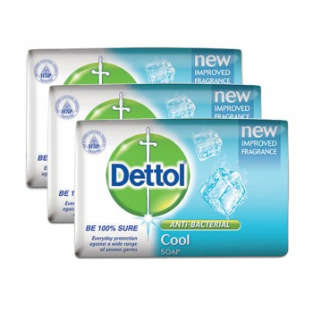Dettol Body Soap Cool 65g x 3's