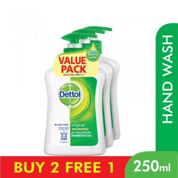 Dettol Hand Wash Original 250ml x 3 Value Pack