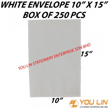 "White Envelope 10"" X 15"" (250 PCS)"
