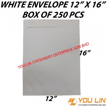 "White Envelope 12"" X 16"" (250 PCS)"
