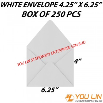 White Envelope 4.25 Inch X 6.25 Inch (500 PCS)