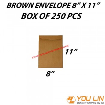 "Brown Envelope 8"" X 11 "" (250 PCS)"