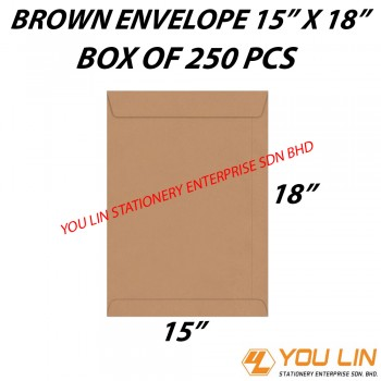 "Brown Envelope 15"" X 18"" (250 PCS)"