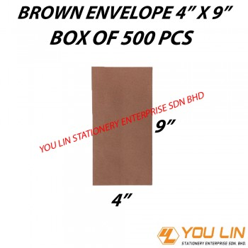 "Brown Envelope 4"" X 9"" (500 PCS)"