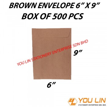 "Brown Envelope 6"" X 9"" (500 PCS)"