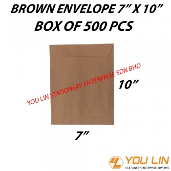 "Brown Envelope 7"" X 10"" (500 PCS)"