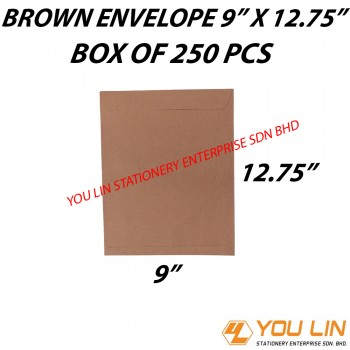 "Brown Envelope 9"" X 12.75"" (250 PCS)"