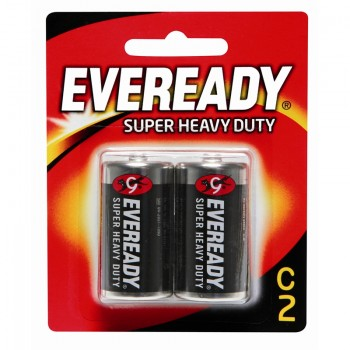 EVEREADY Super Heavy Duty C Carbon Zinc Batteries - C Size