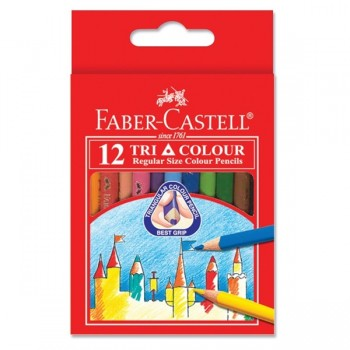 Faber Castell Tri-Grip Colour Pencil-12S