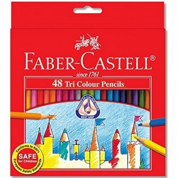 Faber Castell Tri-Grip Colour Pencil-48L