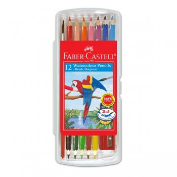 Faber Castell Watercolour Pencil 12S In Clear Box #114561