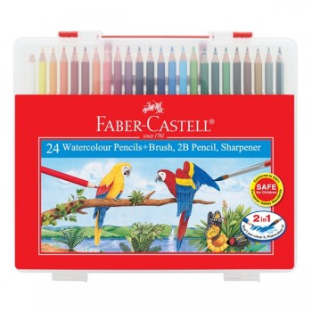 Faber Castell Watercolour Pencil 24L In Clear Box #114564