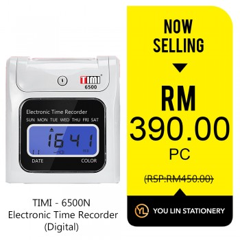 TIMI 6500N Electronic Time Recorder (Digital)-Promo
